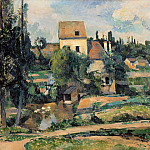 Mill at Pontoise, Paul Cezanne