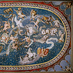 Musei Vaticani - fresco - Anonymous Italian Artist - Ceiling of the Sala Bologna with Zodiac