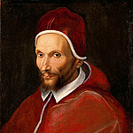 Niccolo (Niccolo da Foligno) Alunno - Italian School - Portrait of Pope Urban VII
