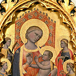 Allegretto Nuzi - Florentine School - Nursing Madonna and Child with Saints