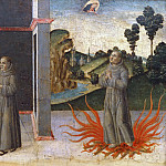 Gentile da Fabriano - Anonymous Painter from Lucca - A Franciscan Friar Defending the Doctrine of the Immaculate Conception with the Ordeal by Fire
