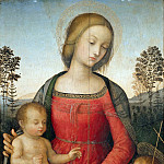 Gentile da Fabriano - Umbrian Painter - Madonna and Child and the Infant Saint John the Baptist
