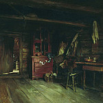 Vasily Maksimov - Inside view of the cottage