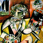 Марк Захарович Шагал - Chagall Self-portrait with seven fingers, ca 1913-14, Stedel