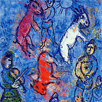 Marc Chagall - Chagall Marc Clown violiniste et ones Sun