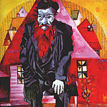 Marc Chagall - chagall_jew_in_red_1915