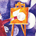 Марк Захарович Шагал - chagall_the_painter_at_the_easel_1919