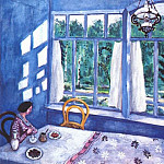 Marc Chagall - chagall_bella_at_the_table_1915