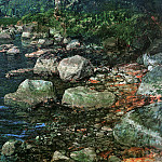 Александр Андреевич Иванов - Ivanov Alexander Water and stones by a monastry Sun