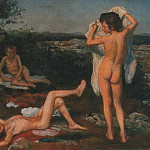 Konstantin Makovsky - Four Naked Boys, study for «The Appearance of Christ before the People»