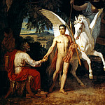 Pavel Fedotov - Bellerophon Leaving to Fight the Chimera