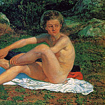 Kuzma Sergeevich Petrov-Vodkin - A Naked Boy, study for The Appearance of Christ before the People