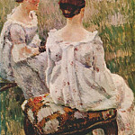Виктор Борисов-Мусатов - borisov-musatov_two_ladies_(study_for_harmony)_1899-1900