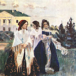 Виктор Борисов-Мусатов - borisov-musatov_walk_at_sunset_1903