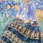 Виктор Борисов-Мусатов - borisov-musatov_lady_in_blue_dress_1905
