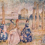 Виктор Борисов-Мусатов - borisov-musatov_autumn_evening_(sketch_for_a_panel)_1904-5