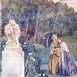 Виктор Борисов-Мусатов - borisov-musatov_slumber_divine_(sketch_for_a_panel)_1904-5