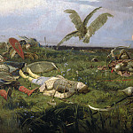 Ivan Ivanovich Shishkin - After the Battle between Prince Igor Svyatoslavich of Kiev and the Polovtsy