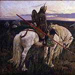 Ilya Repin - Knight at the Crossroads
