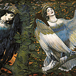 Viktor Vasnetsov - Sirin and Alkonost. Song of joy and sadness.