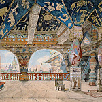 Stage design for Nikolai Rimsky-Korsakovs opera The Snow Maiden