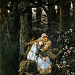 Ivan Ivanovich Shishkin - Ivan Tsarevich riding the Grey Wolf