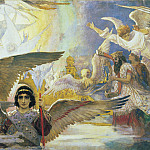 Viktor Vasnetsov - Central Panel from the Threshold of Paradise