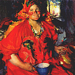 Абрам Ефимович Архипов - arkhipov_girl_with_pitcher_1927