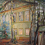 House under the trees, Boris Grigoriev