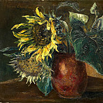 Still life with sunflowers, Boris Grigoriev