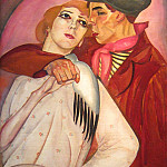 Zhigan and prostitute, Boris Grigoriev