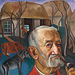 Man with pipe, Boris Grigoriev