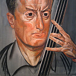 Man with cello, Boris Grigoriev