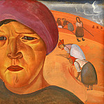Boris Grigoriev - Russian peasant woman