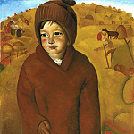 Boris Grigoriev - Boy At Harvest Time