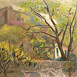 House With A Pink Roof, Boris Grigoriev