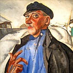Boris Grigoriev - Portrait of Peter Baksheev as Vaska Pepel of Gorky's play The Lower Depths