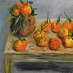 Still life with oranges, Boris Grigoriev