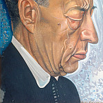 Boris Grigoriev - Portrait of Composer Rachmaninov