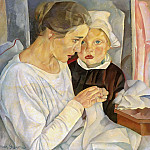 Mother And Child, Boris Grigoriev