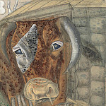 Peasant boy and a cow, Boris Grigoriev