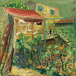 The scene on the farm, Boris Grigoriev