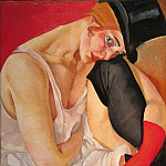 Lady in Top Hat, Boris Grigoriev