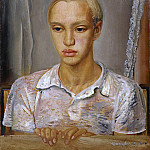 Boris Grigoriev - Portrait Of The Artist's Son, Kirill