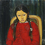 Girl in Red, Boris Grigoriev