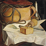 Boris Grigoriev - Still life with candle