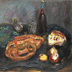 Still life with bread and onions, Boris Grigoriev