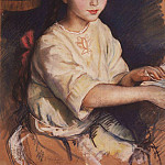 Portrait of O. I. Rybakova in childhood, Zinaida Serebryakova