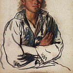 Portrait of young fisherman, Zinaida Serebryakova