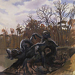 Zinaida Serebryakova - Fountain in the park of Versailles